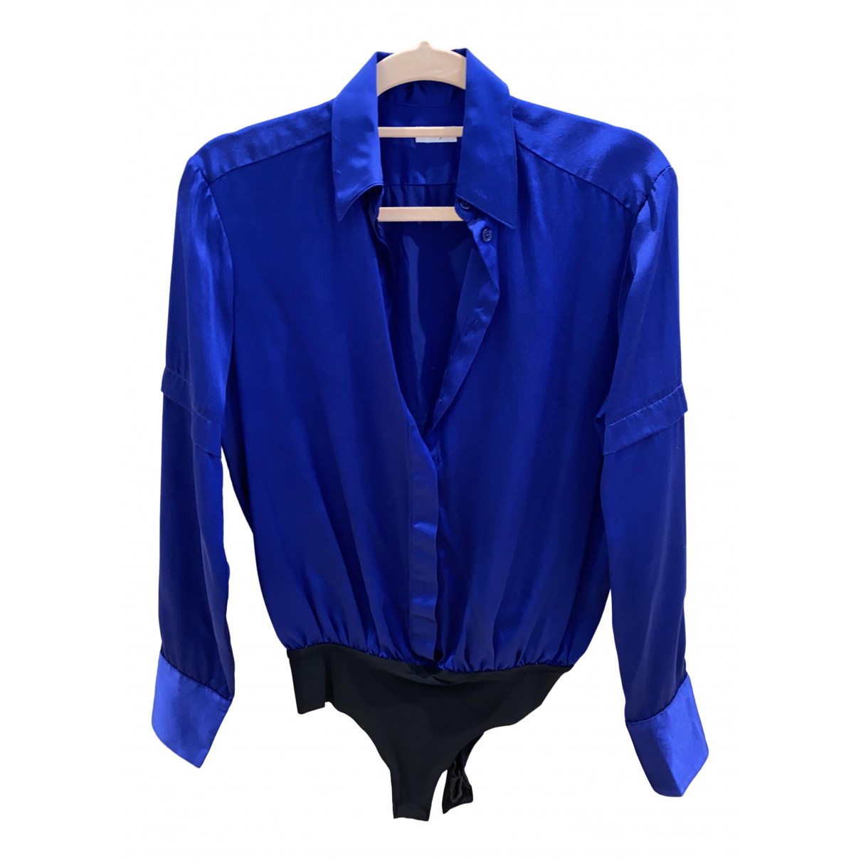 Alix - Top   pour femme en soie - bleu