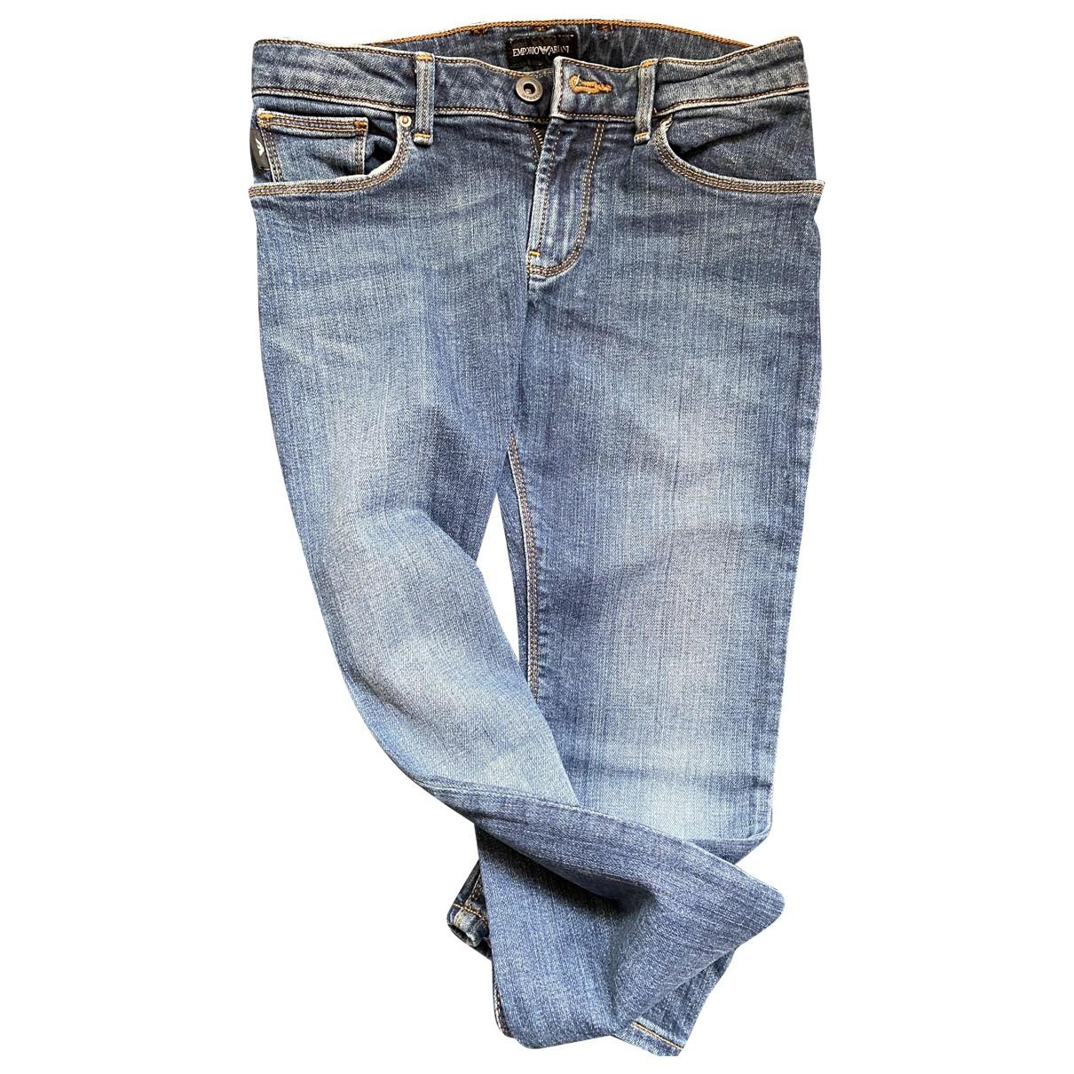 Emporio Armani - Pantalon   pour enfant en denim - bleu