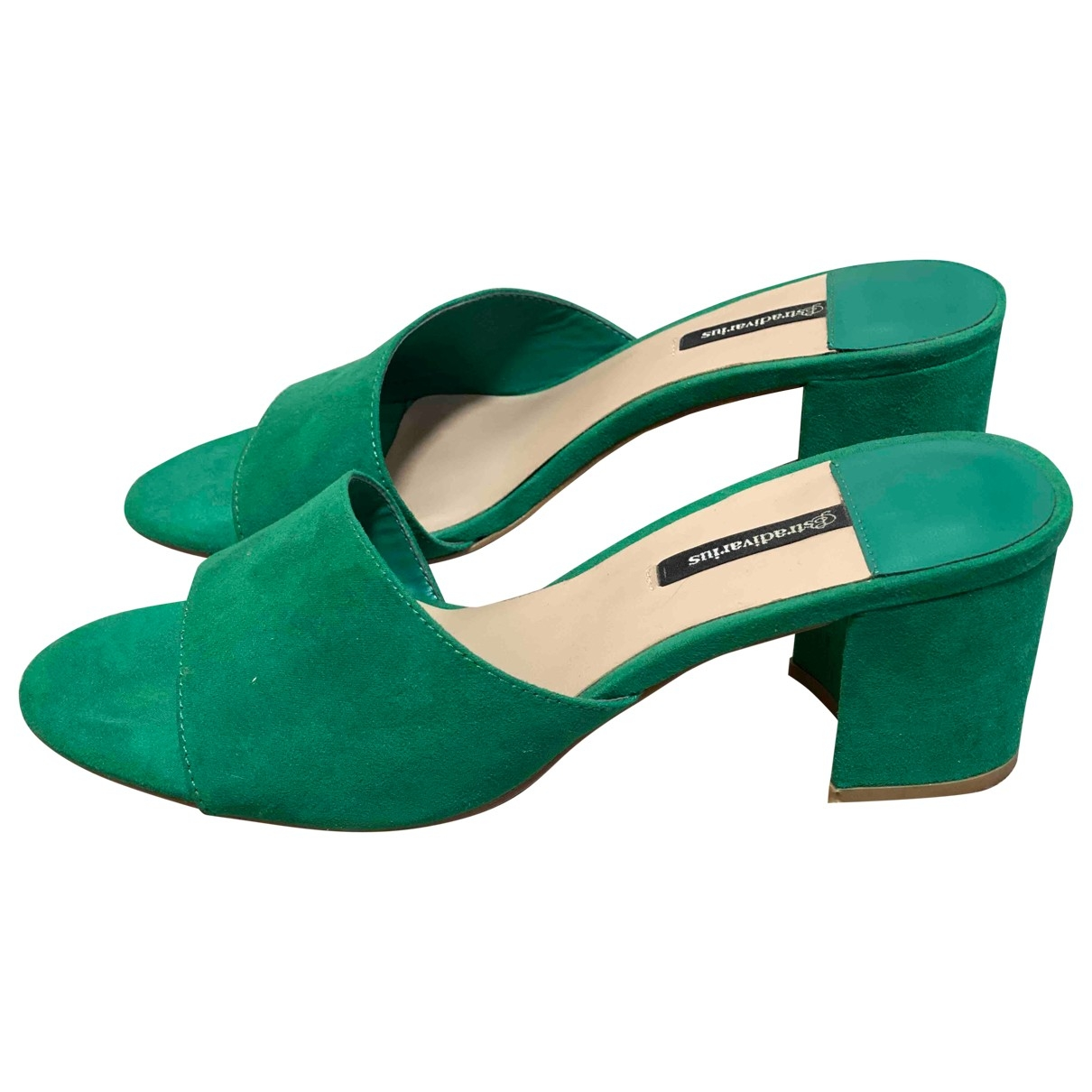 Non Signé / Unsigned \N Green Cloth Sandals for Women 38 EU