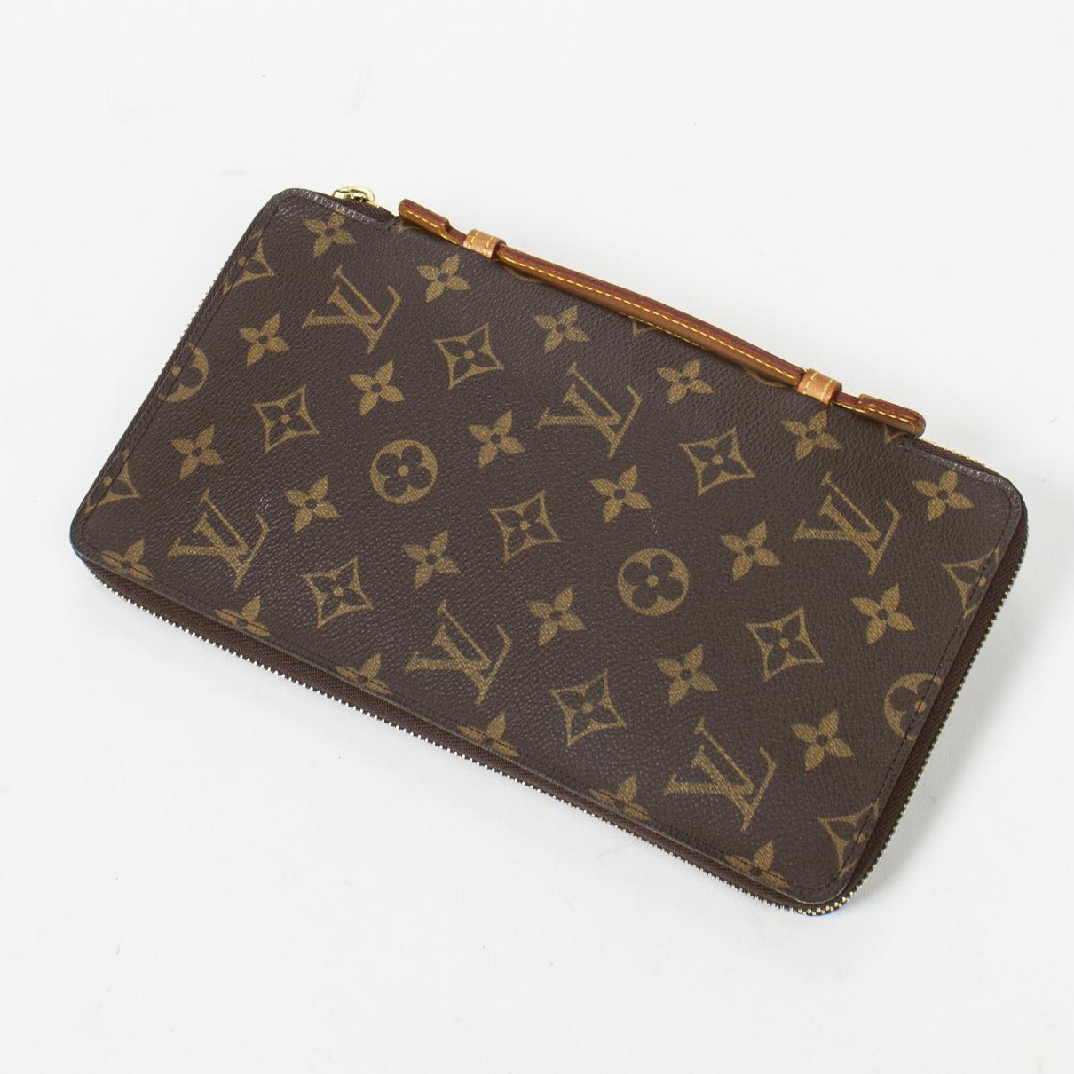 Louis Vuitton - Pochette   pour femme en coton - marron