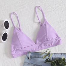 Seam Detail Triangle Bikini Top