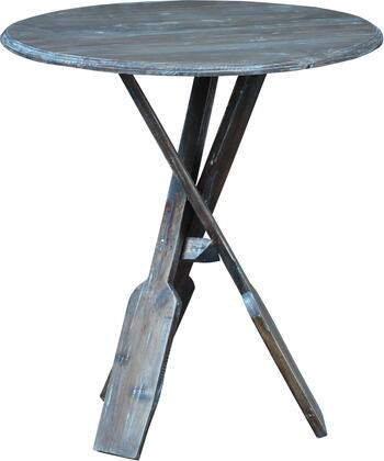 CC-TAB813LD-BBR Accent Table with Wood Construction and Distress Details  in Brown and