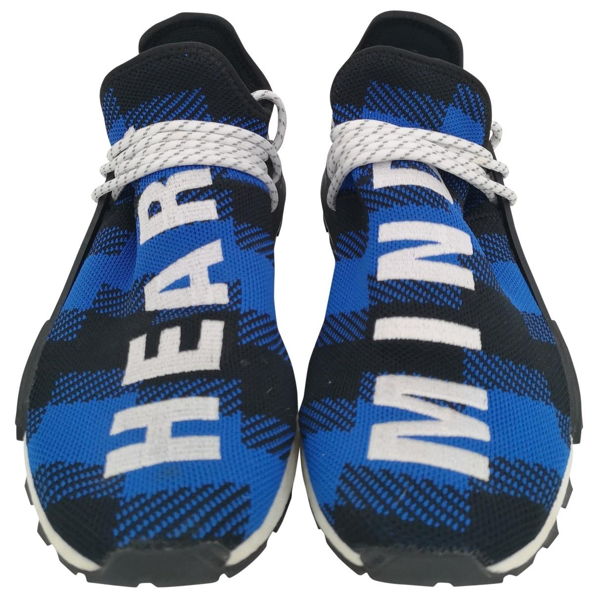 Adidas X Pharrell Williams NMD Hu Blue Cloth Trainers for Men 9 UK