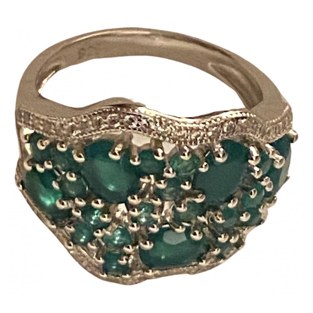 - Bague Agate pour femme en argent - vert