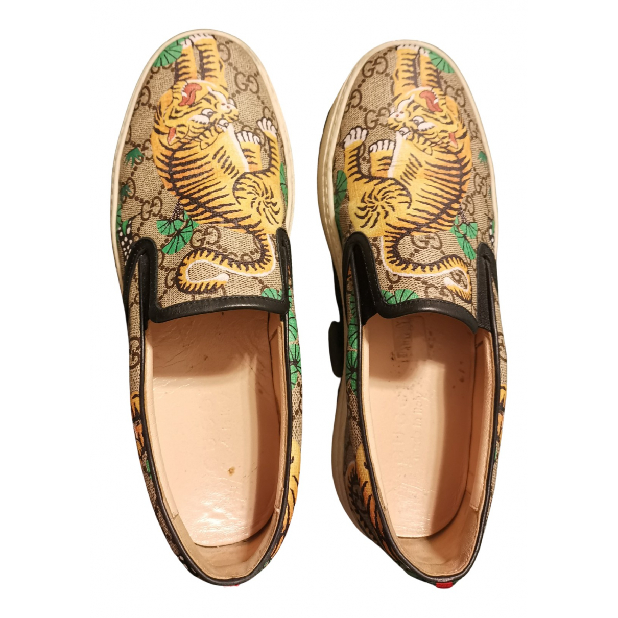 Gucci \N Multicolour Leather Trainers for Men 7.5 US