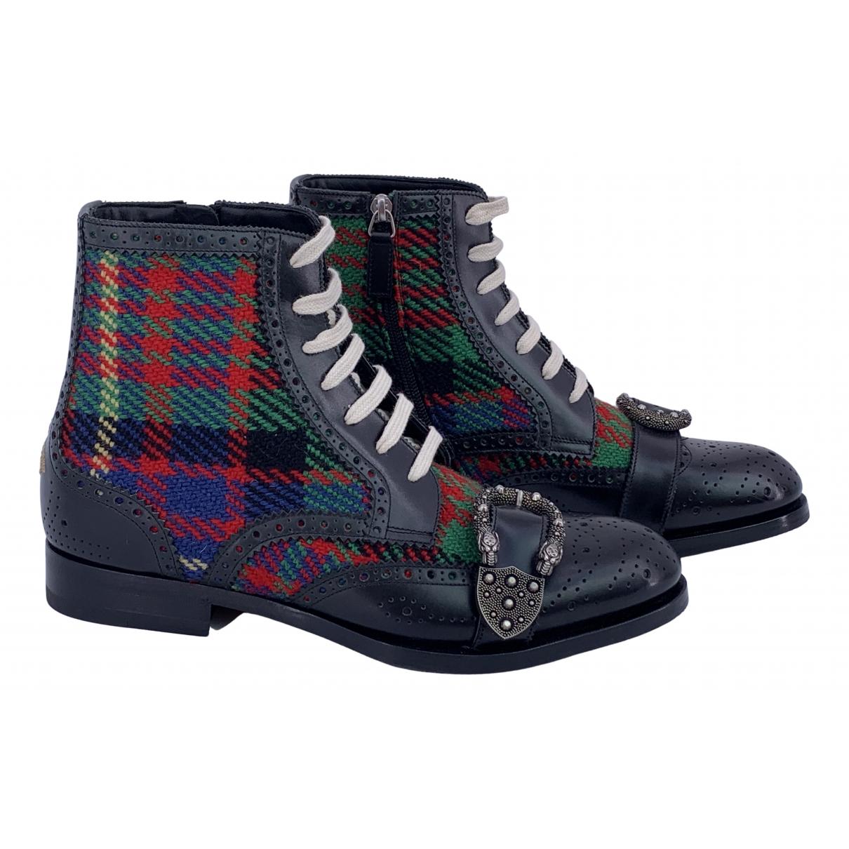 Gucci - Bottes.Boots   pour homme en cuir - multicolore