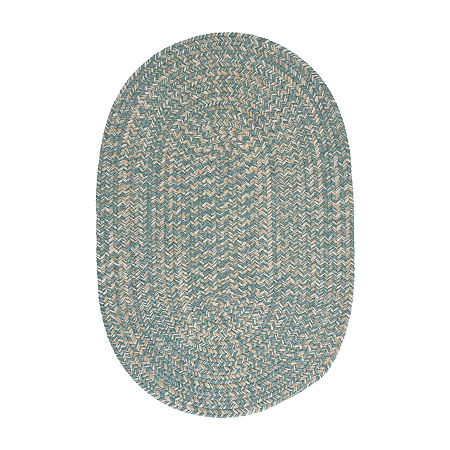 Colonial Mills American Tweed Braided Oval Reversible Indoor Rugs, One Size , Blue