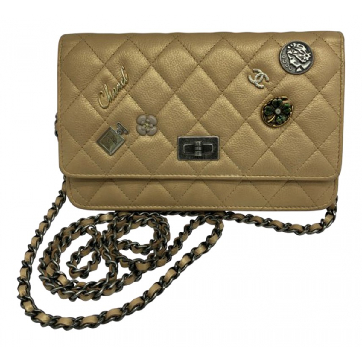 Chanel - Sac a main Wallet on Chain pour femme en cuir - dore