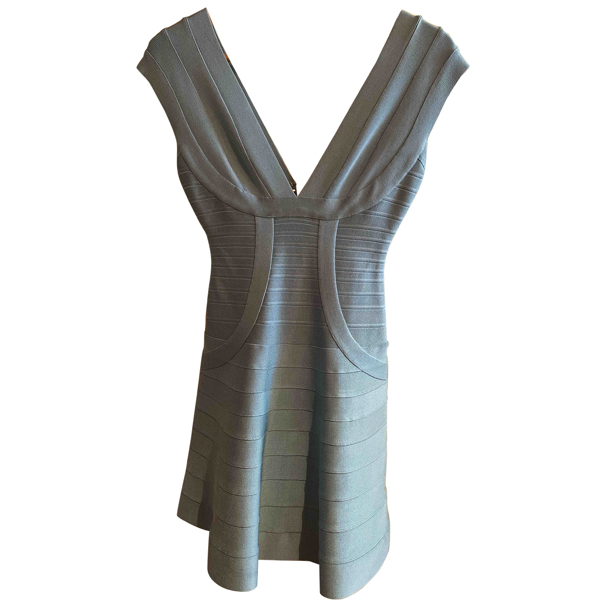 Herve Leger \N Kleid in  Tuerkis Synthetik