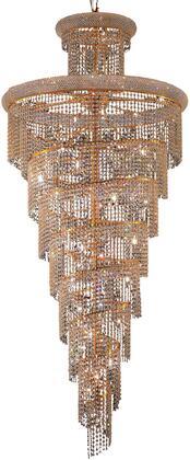 V1800SR36G/SA 1800 Spiral Collection Chandelier D:36In H:86In Lt:32 Gold Finish (Spectra   Swarovski
