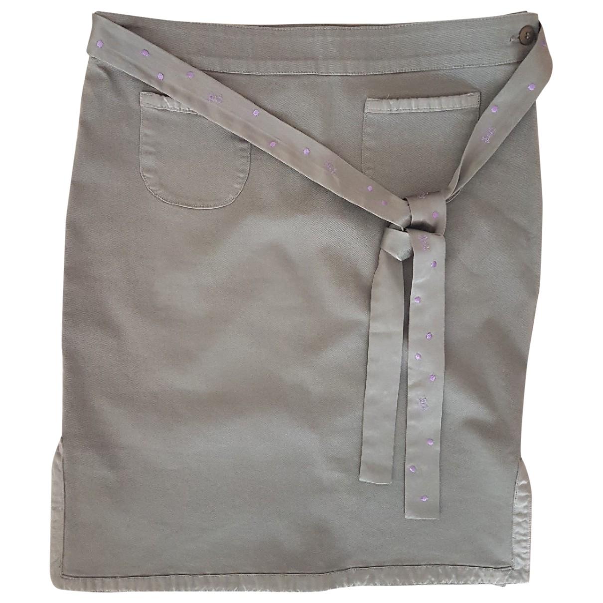 Iceberg \N Khaki Cotton skirt for Women 44 IT
