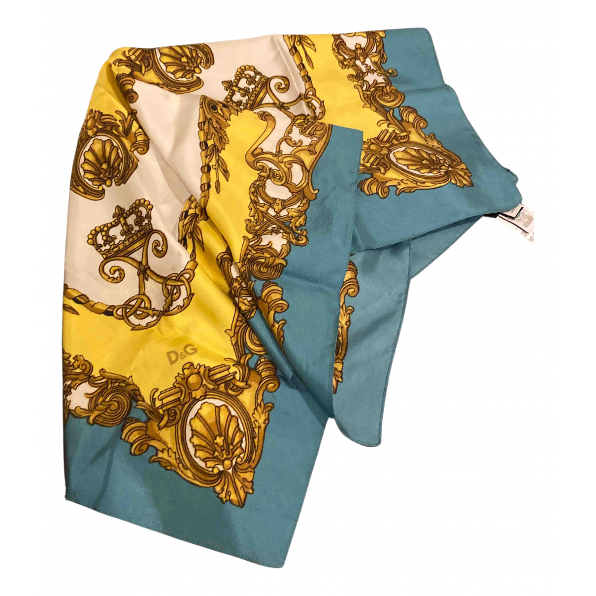 D&g N Blue Silk scarf for Women N