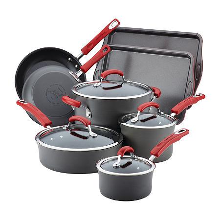 Rachael Ray 12-pc.Aluminum Non-Stick Cookware Set, One Size , Blue