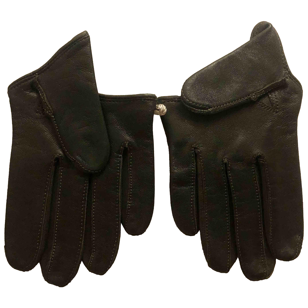 Maison Fabre N Khaki Leather Gloves for Women S International