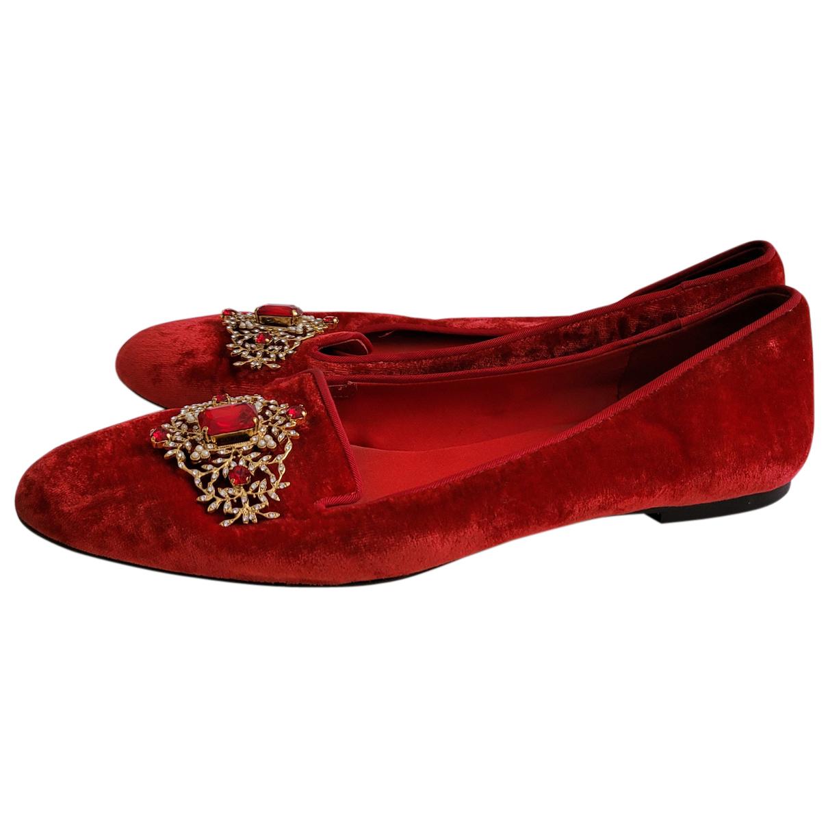 Dolce & Gabbana \N Mokassins in  Rot Samt