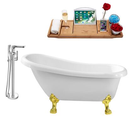 NH480GLD-120 Faucet and Tub Set with 61