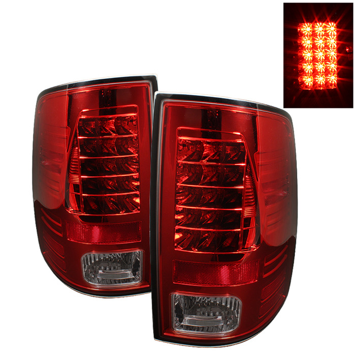 Spyder Auto ALT-YD-DRAM09-LED-RS Red Smoke LED Taillights Ram 1500 with Incandescent Lights 09-14
