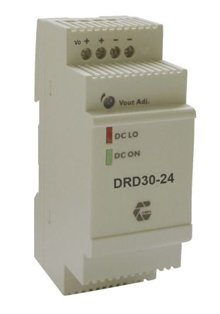 Chinfa DRD30 30W Isolated DC-DC Converter DIN Rail Mount, Voltage in 9 → 36 V dc, Voltage out 12V dc