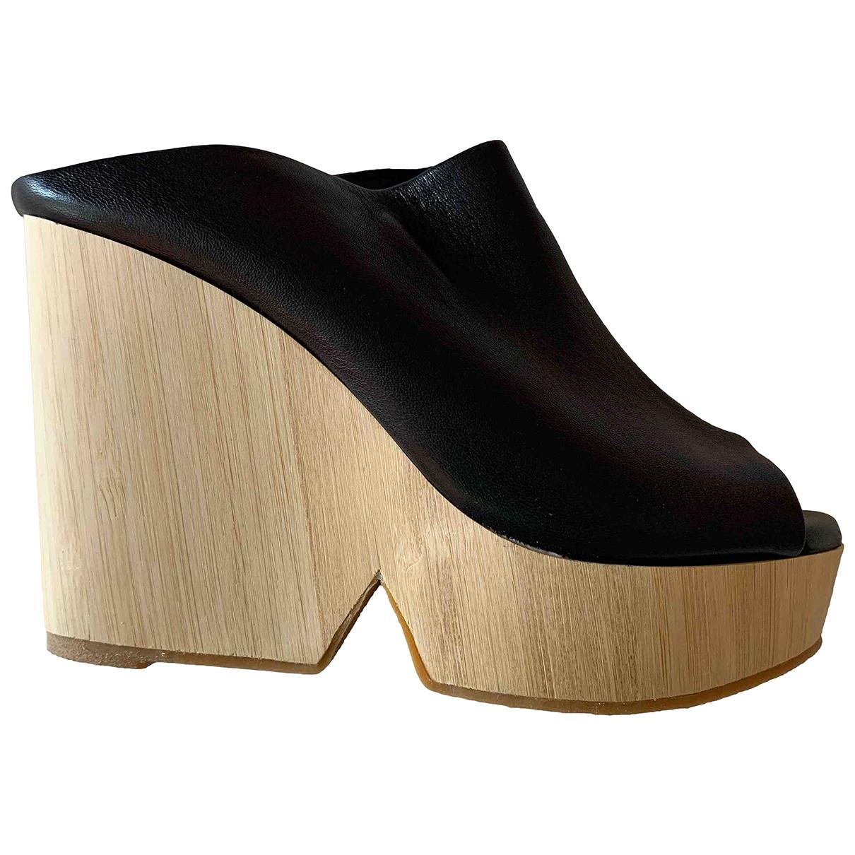 Robert Clergerie - Sandales   pour femme en cuir - noir