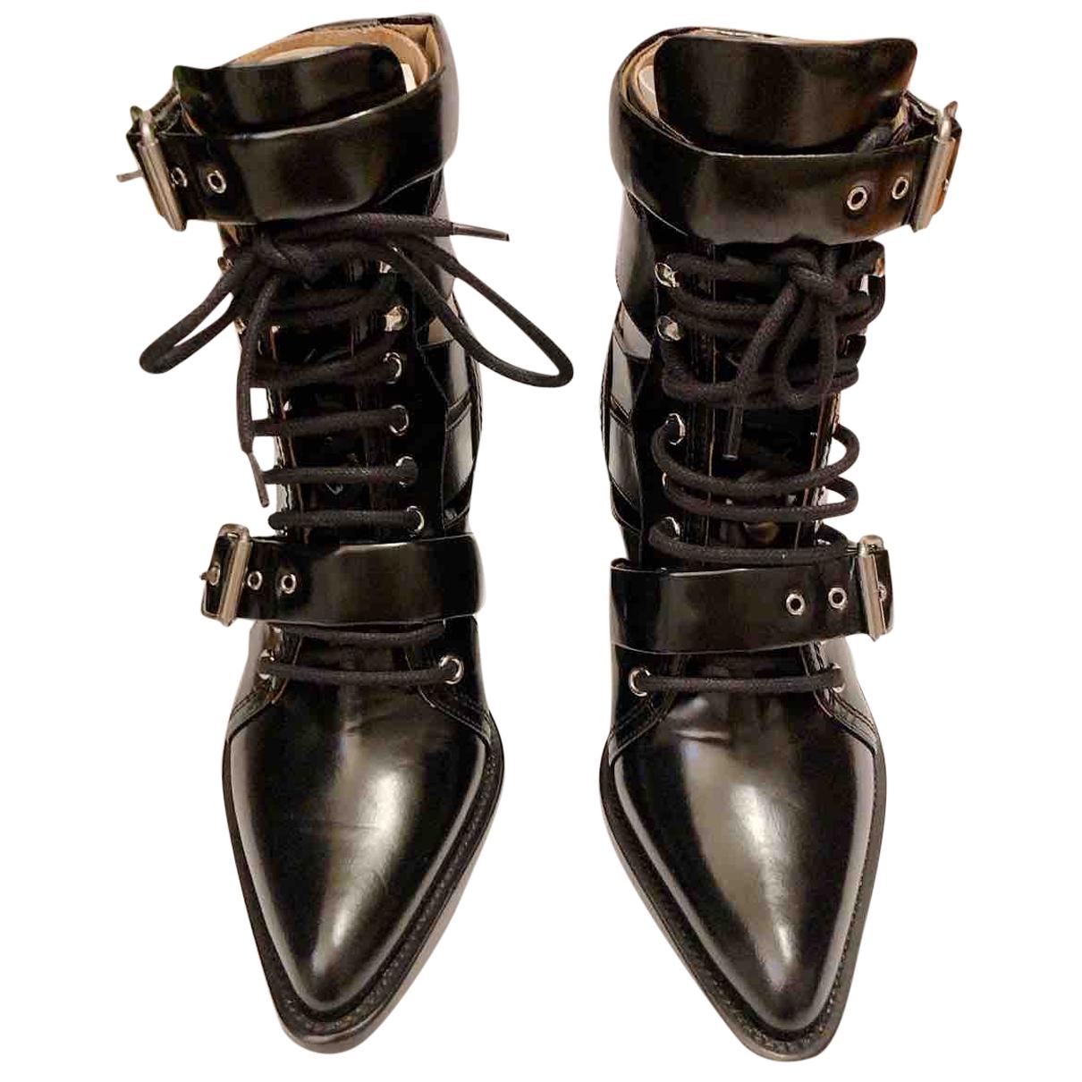 Chloe - Boots Rylee pour femme en cuir - noir
