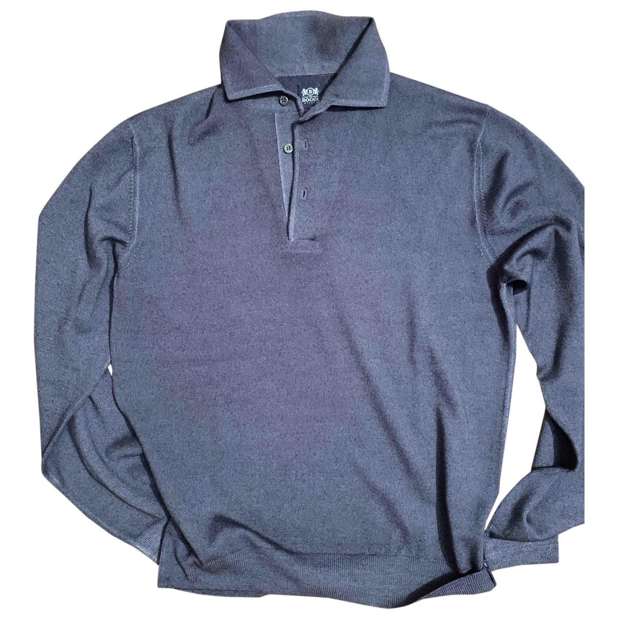 Boggi N Anthracite Wool Knitwear & Sweatshirts for Men M International