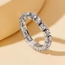 Rhinestone Decor Ring 1pc