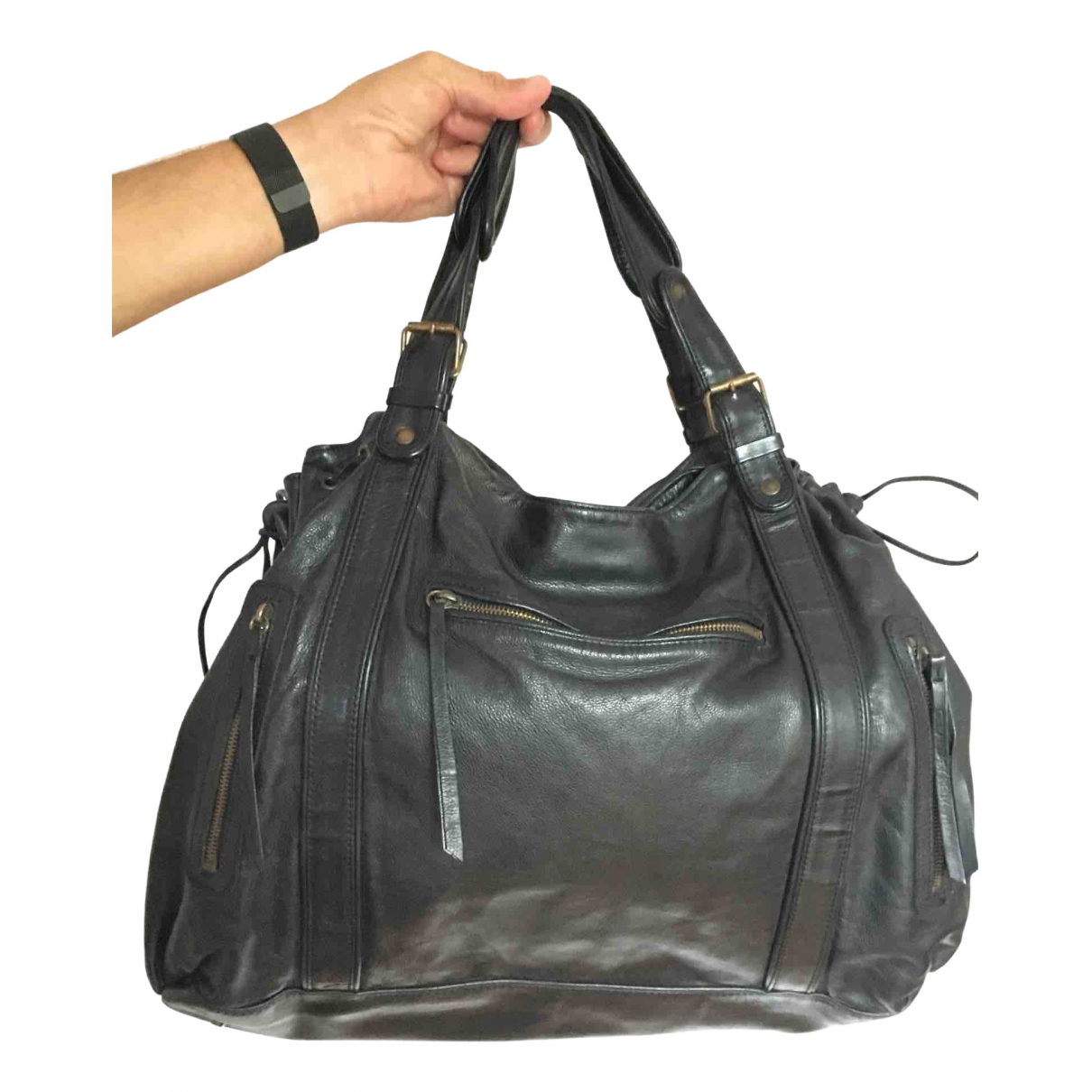 Gerard Darel \N Black Leather Travel bag for Women \N
