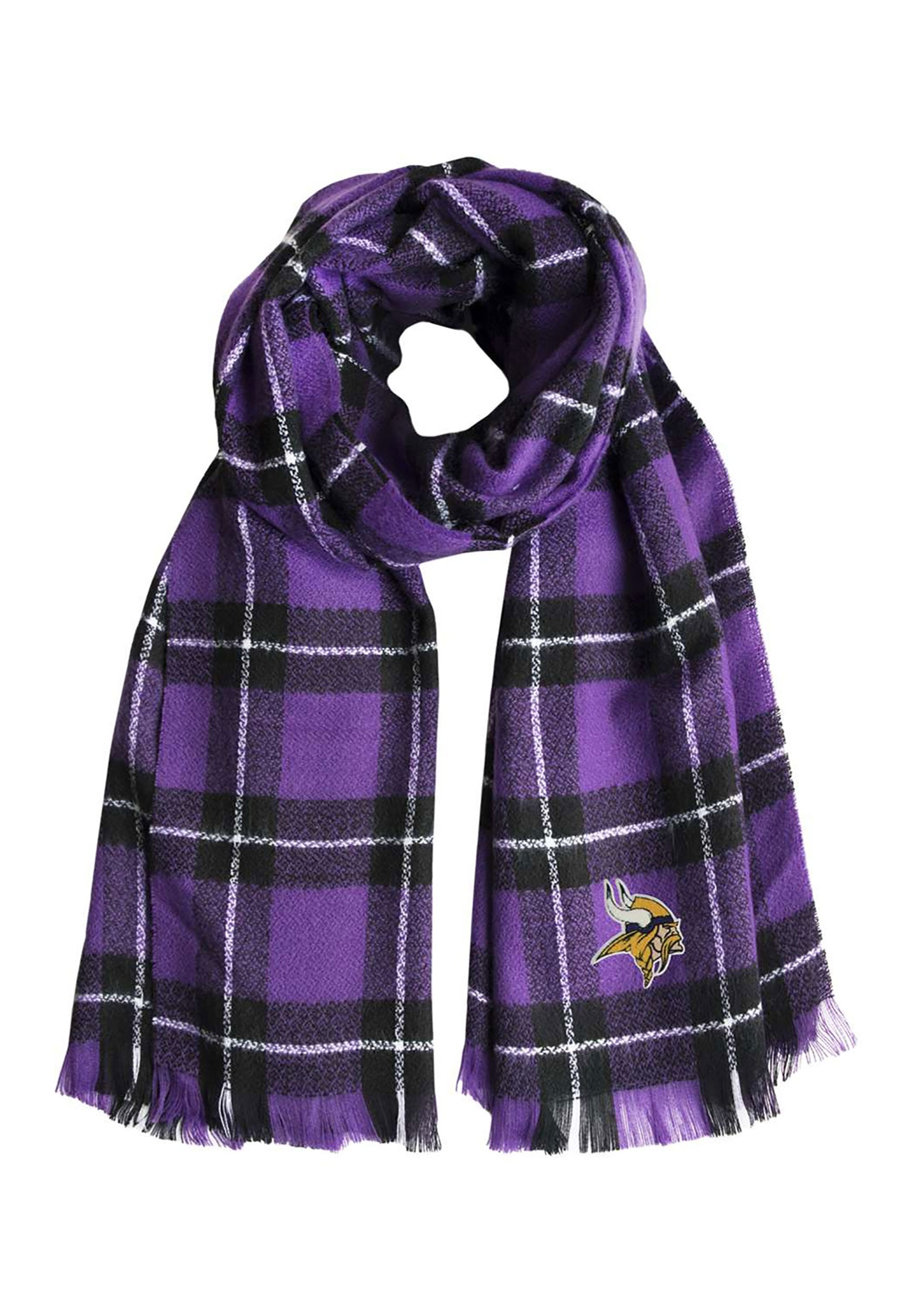 Minnesota Vikings NFL Plaid Blanket Scarf