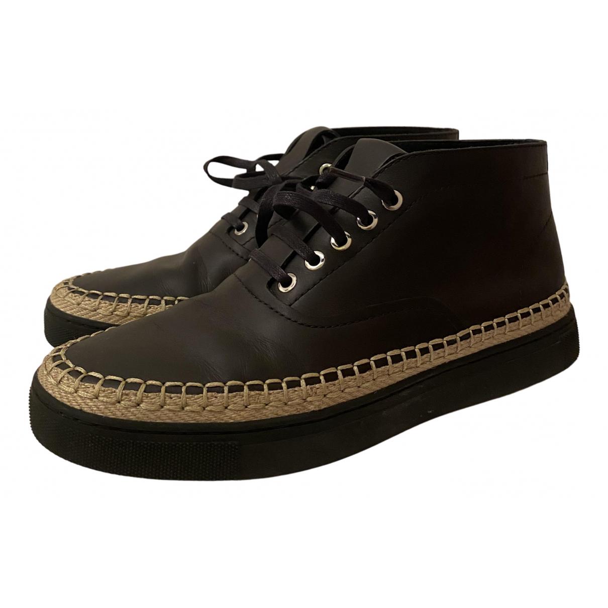 Alexander Wang \N Sneakers in  Schwarz Leder
