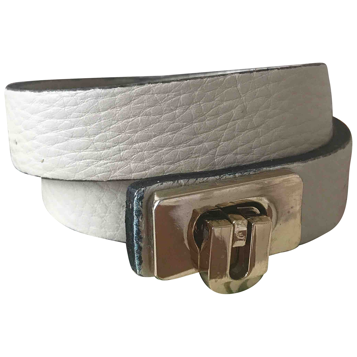 Coccinelle - Bracelet   pour femme en cuir - ecru