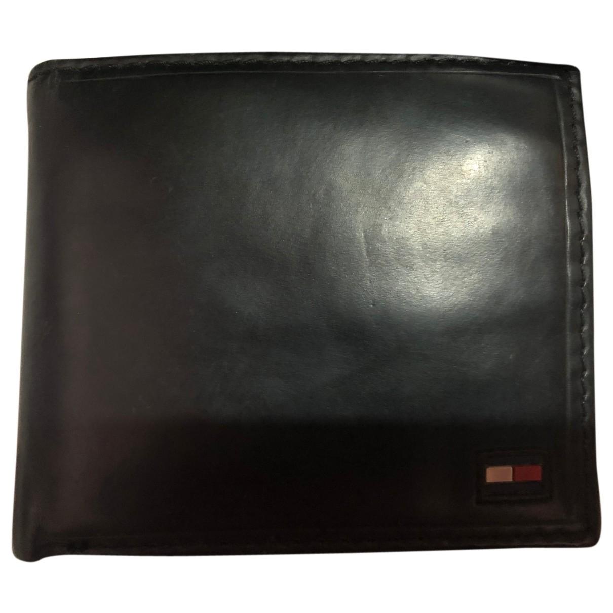 Tommy Hilfiger - Petite maroquinerie   pour homme en cuir - noir