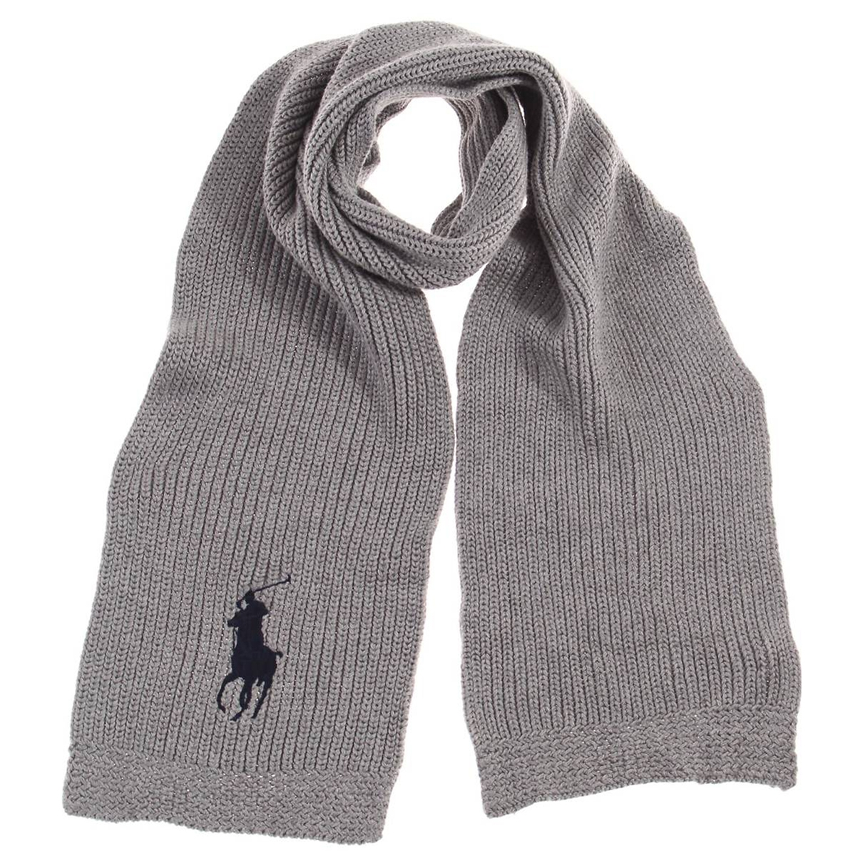 Polo Ralph Lauren - Foulard   pour femme en coton - gris