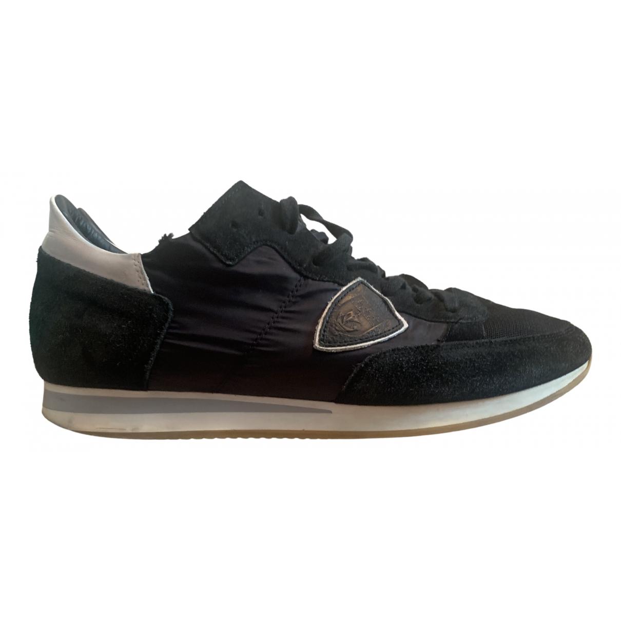 Philippe Model \N Sneakers in  Schwarz Leinen