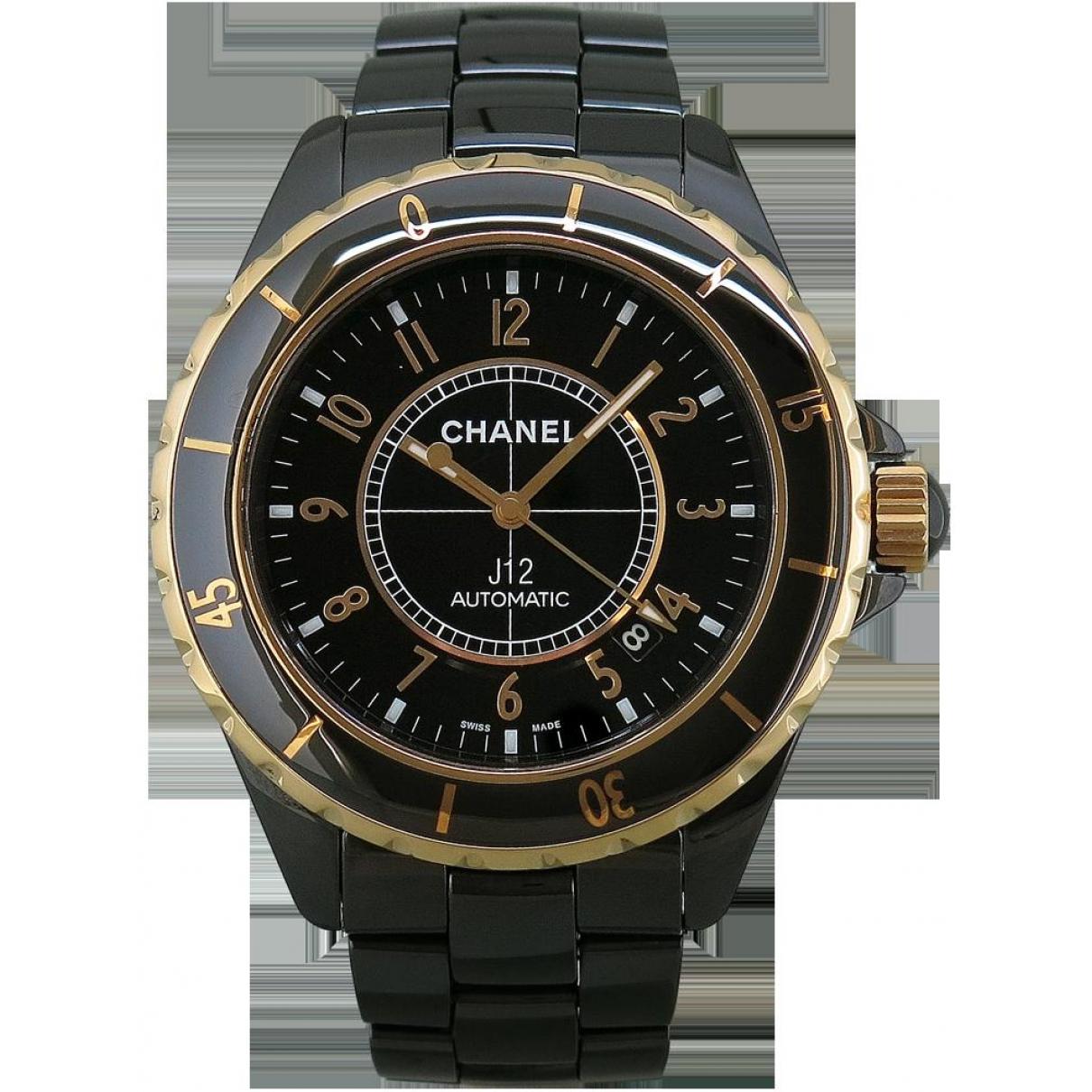 Chanel J12 Automatique Uhr in  Schwarz Keramik
