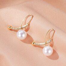 Faux Pearl Decor Earring Jackets