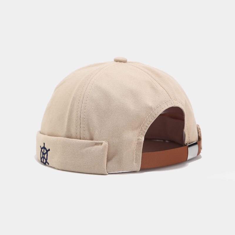 Brimless Caps Hip-hop Hats Fasion Skull Caps Round Wheel Logo