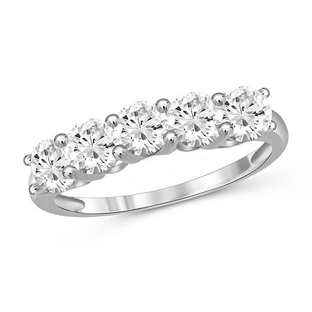 Womens 2 1/3 CT. T.W. White Cubic Zirconia Sterling Silver Promise Ring, 8 , No Color Family