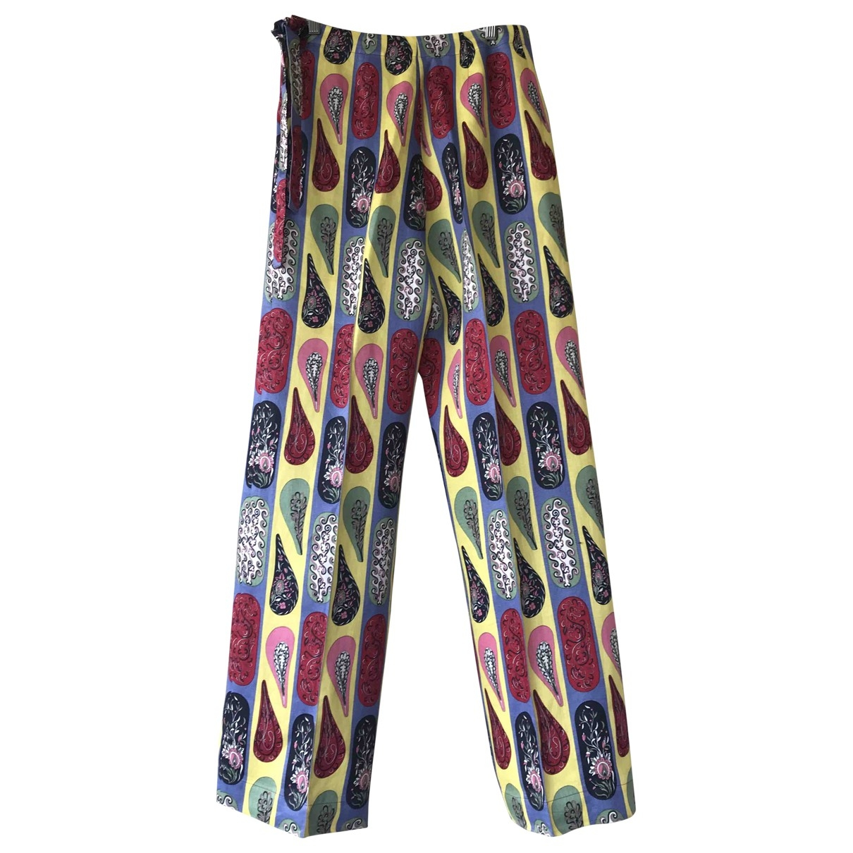 Hermès \N Multicolour Cotton Trousers for Women 36 FR