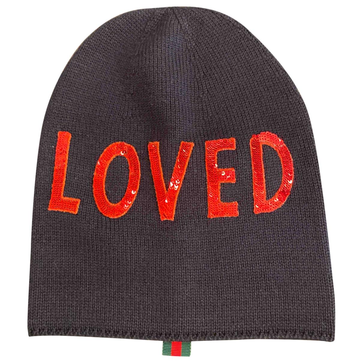Gucci \N Navy Wool hat for Women 56 cm