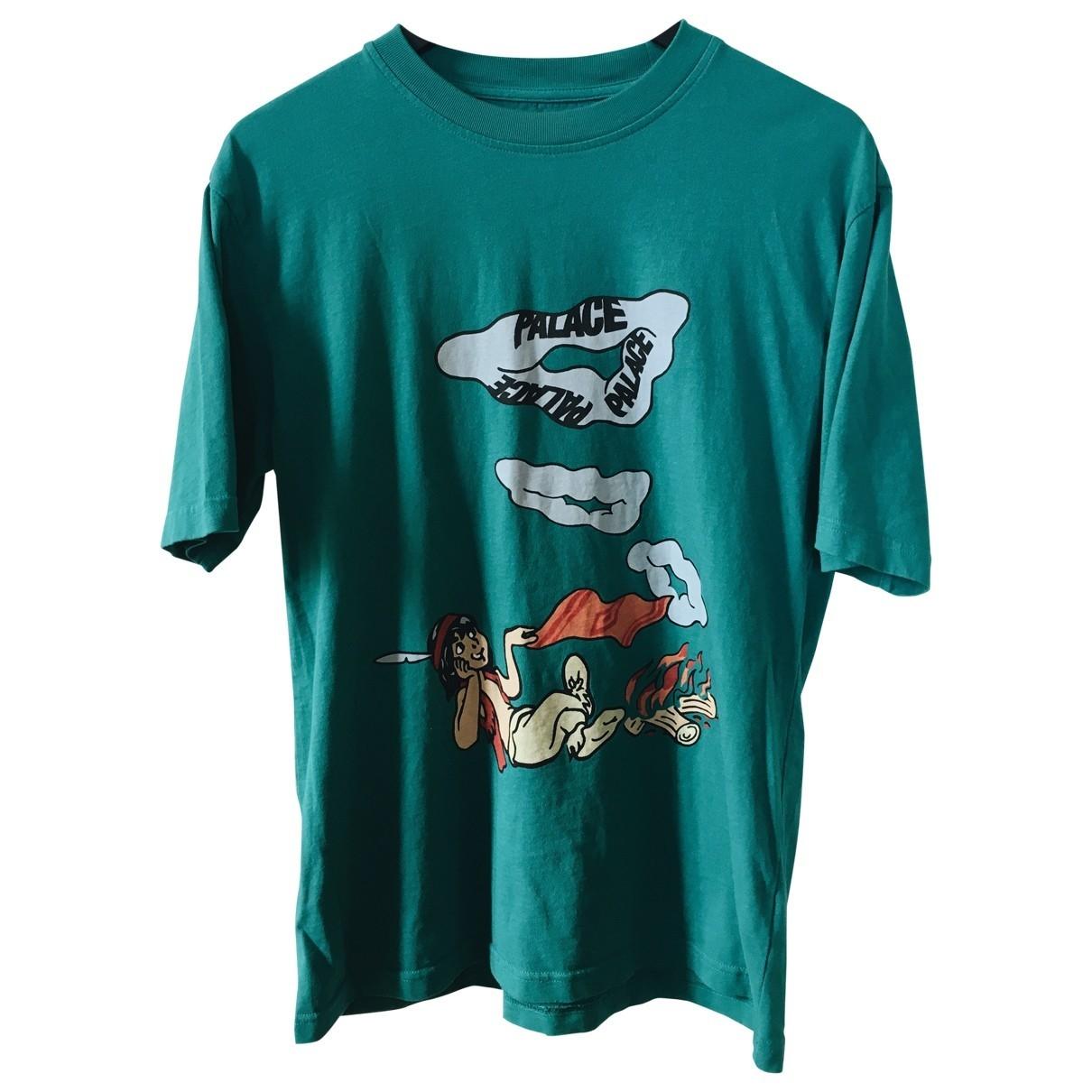 Palace - Tee shirts   pour homme en coton - vert