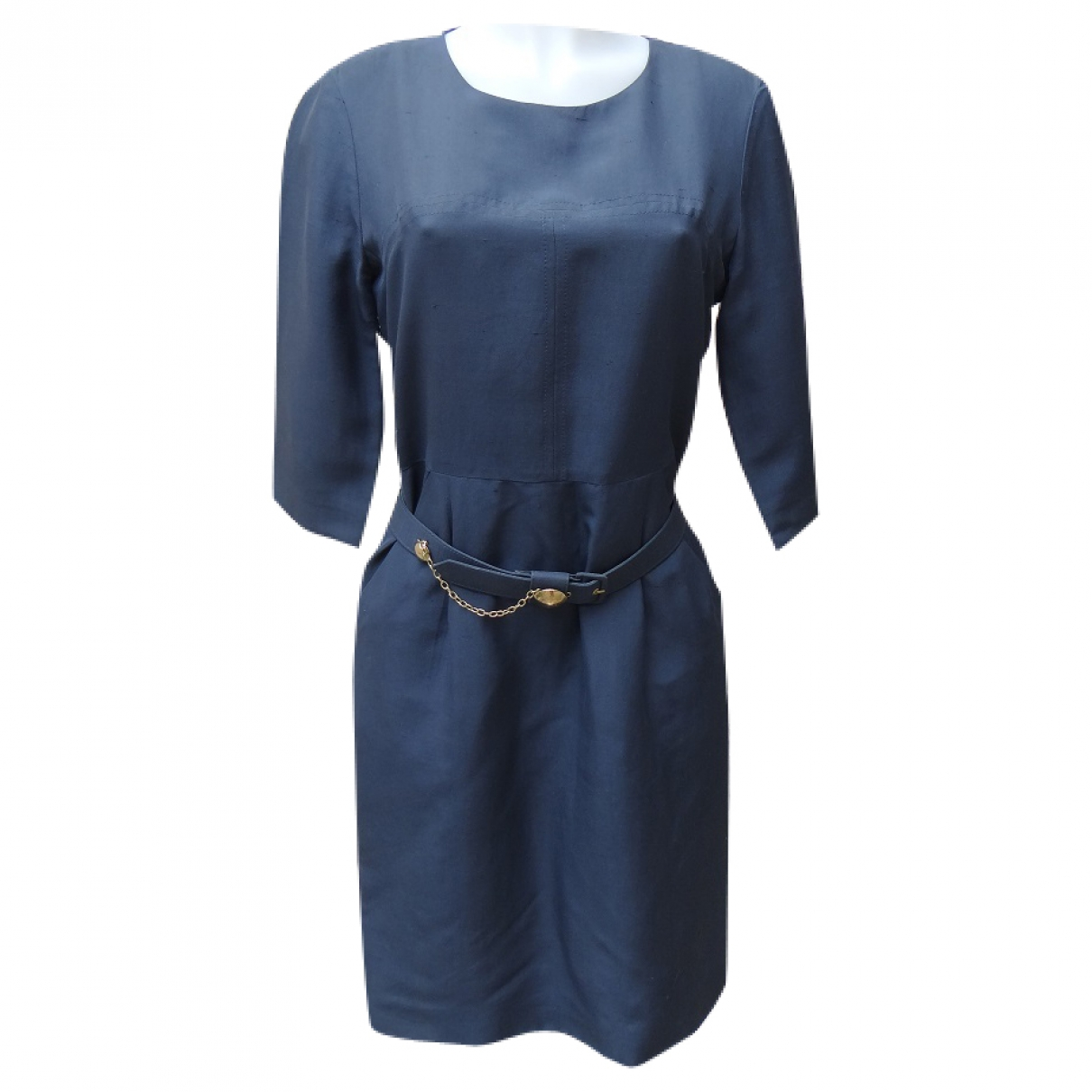 Chloé \N Blue Silk dress for Women 38 FR