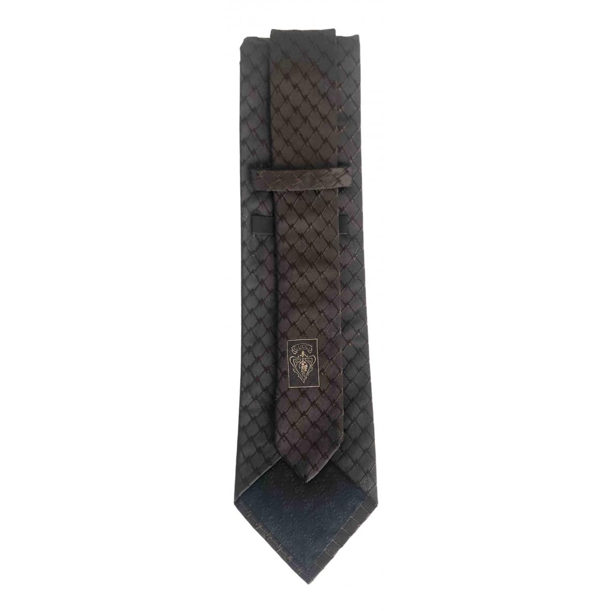 Gucci \N Brown Silk Ties for Men \N