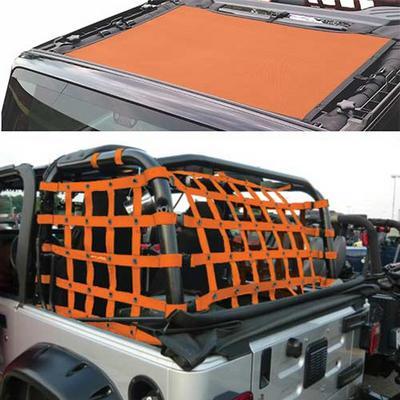 DirtyDog 4x4 Sun Screen with Rear Cargo Net - J4NS07RCOR