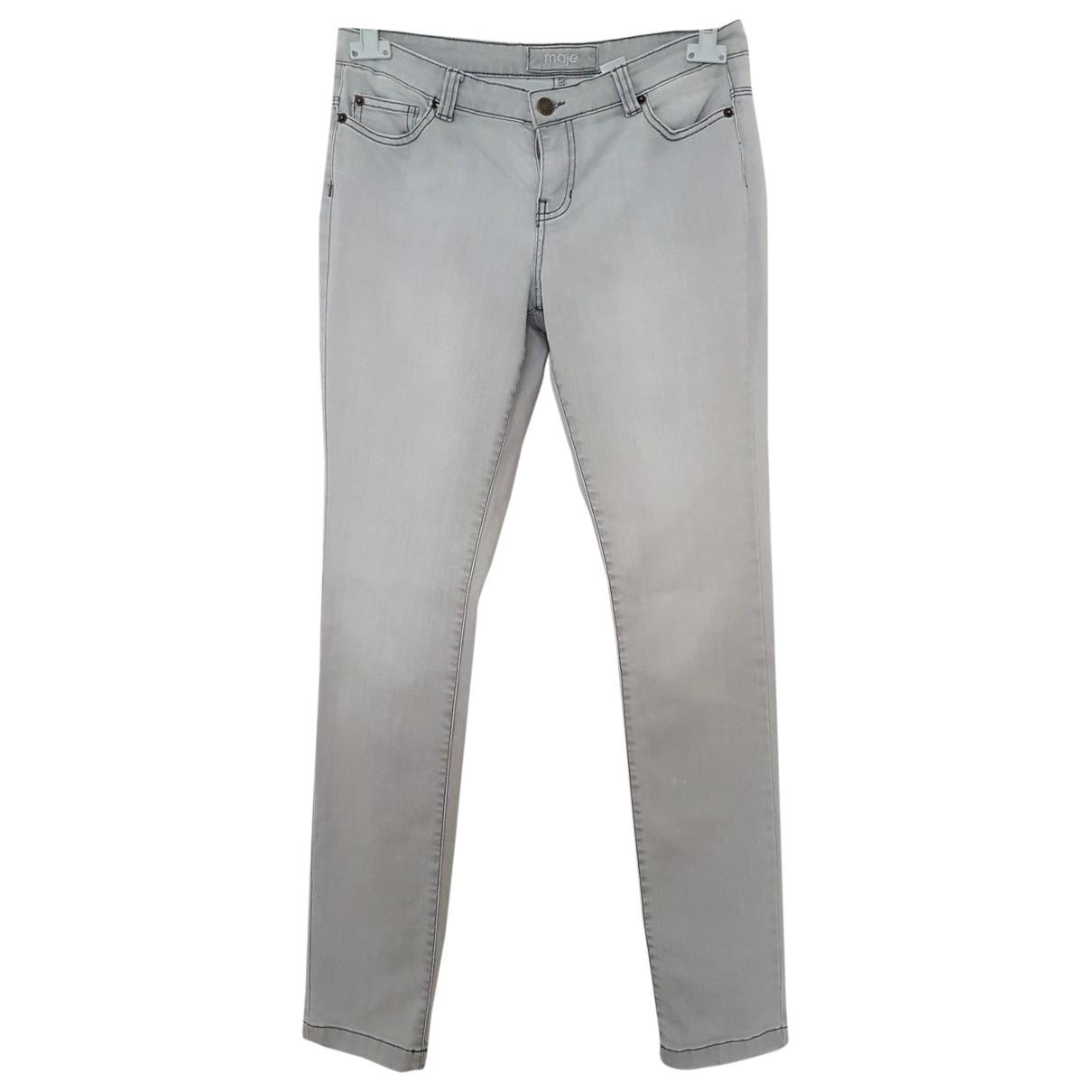Maje \N Grey Cotton - elasthane Jeans for Women 38 FR