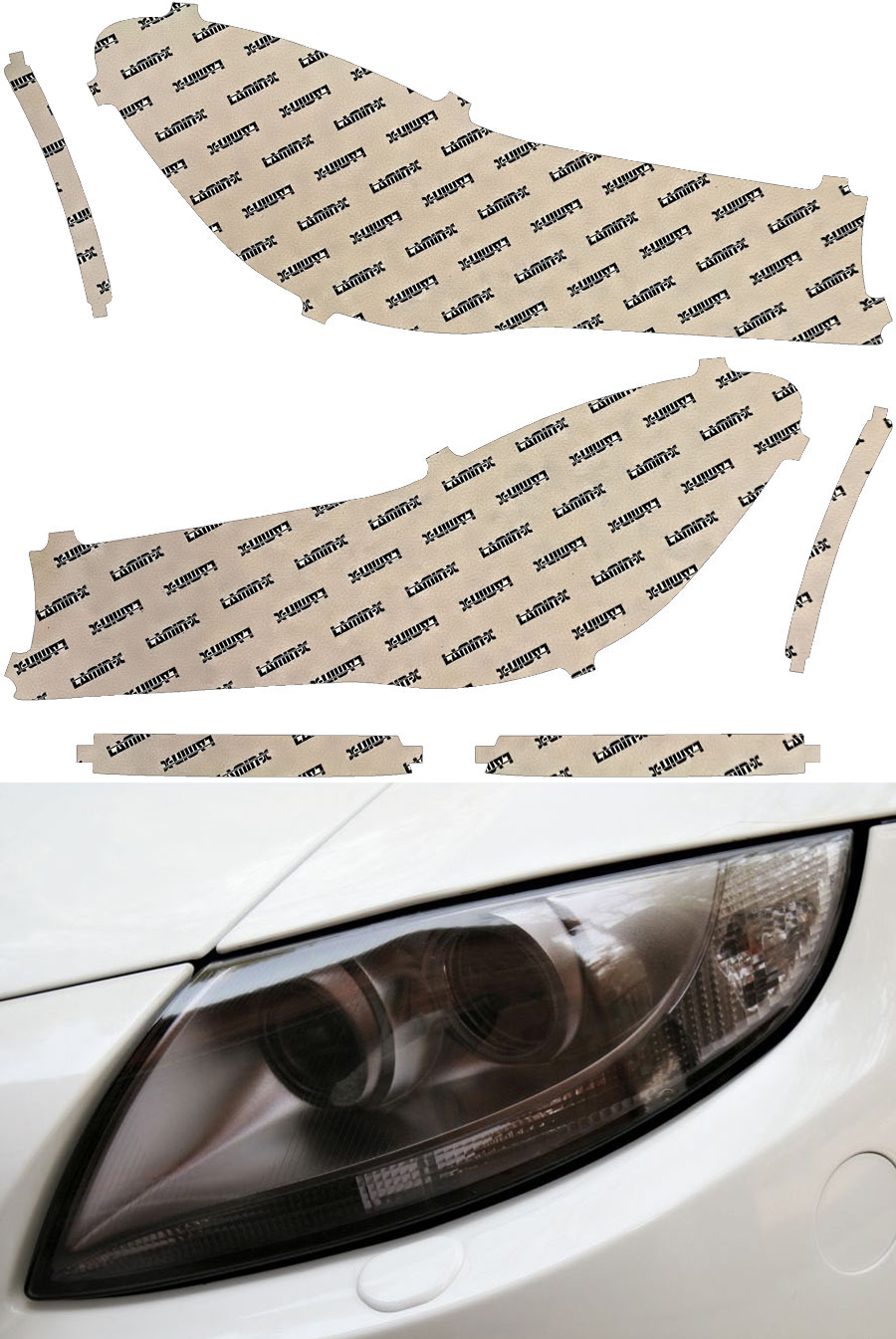 BMW 7-Series M Sport 16-20 Gunsmoke Headlight Covers Lamin-X B059G