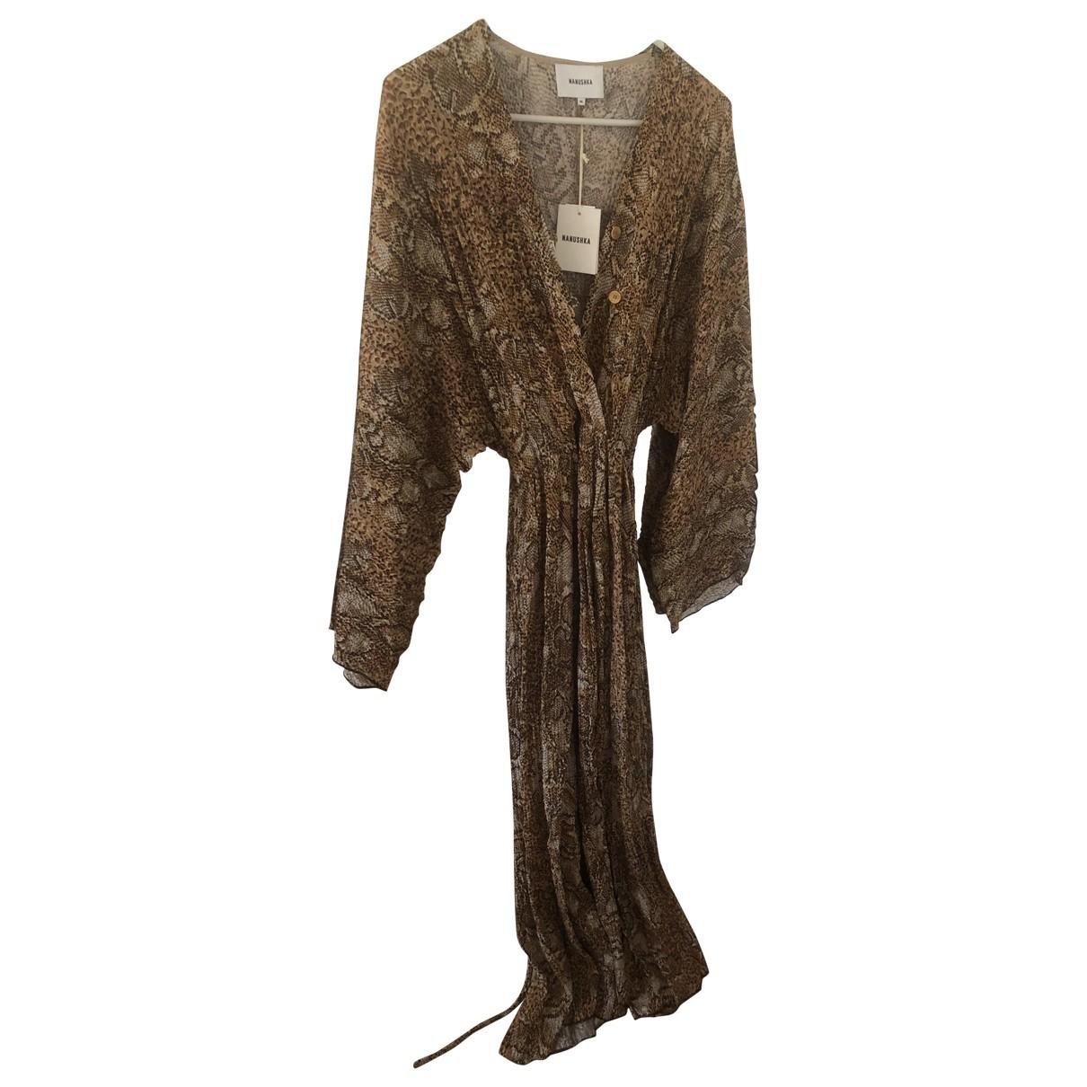 Nanushka \N Kleid in  Braun Polyester