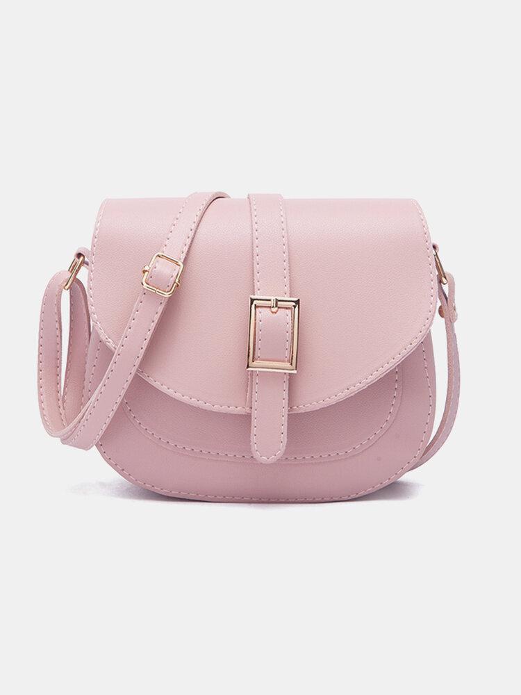 Women Large Capacity Solid Casual Crossbody Bag Shoulder Bag