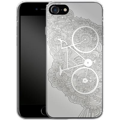 Apple iPhone 7 Silikon Handyhuelle - Bike Drawing Meditation von Kaitlyn Parker