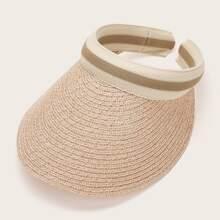 Striped Straw Visor Hat