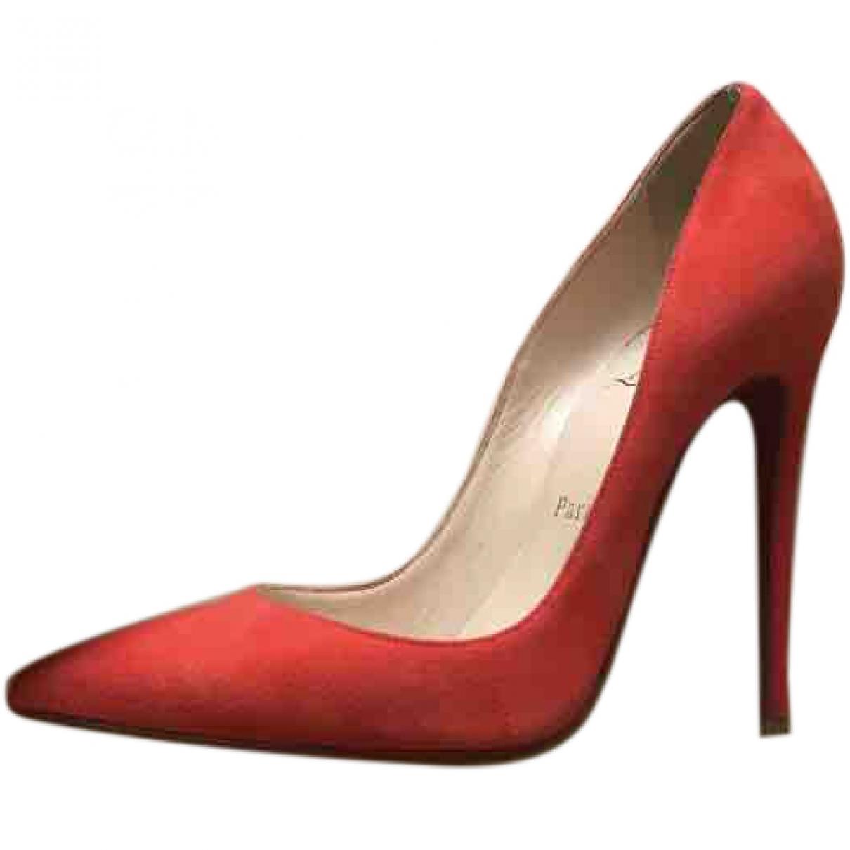 Christian Louboutin So Kate  Suede Heels for Women 37.5 EU